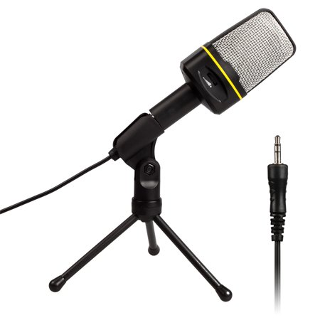 Agptek Professional 3 5Mm Condenser Recording Microphone With Usb Sound Card For Youtube  Skype  Google Voice Search
