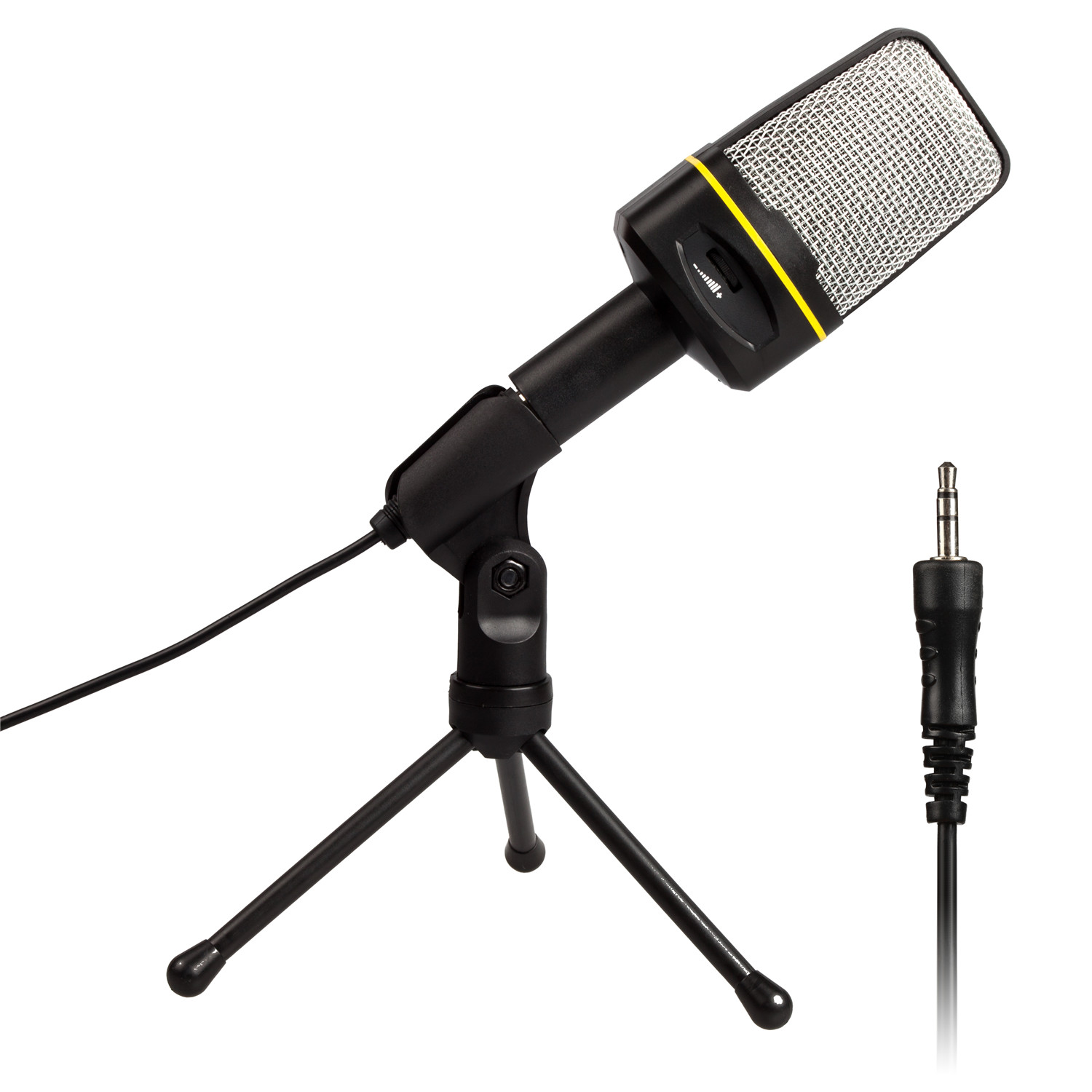 AGPTEK Professional 3.5mm Condenser Recording Microphone with USB Sound Card for YouTube, Skype, Google Voice Search