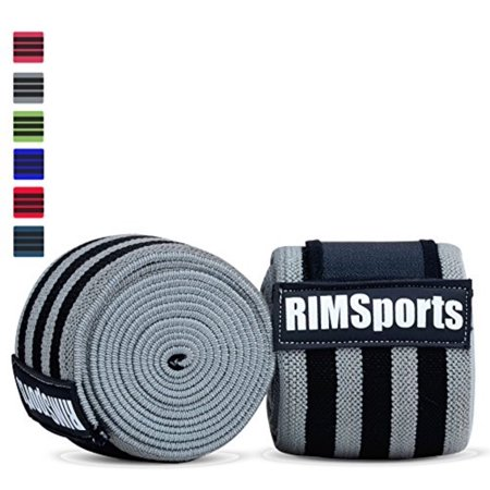 Knee Wraps For Powerlifting, Gym, Crossfit & Crossfit Equipment - Premium Powerlifting Knee Wraps - Best Knee Wraps For Squats - Ideal Knee Straps Weightlifting & Knee Straps For