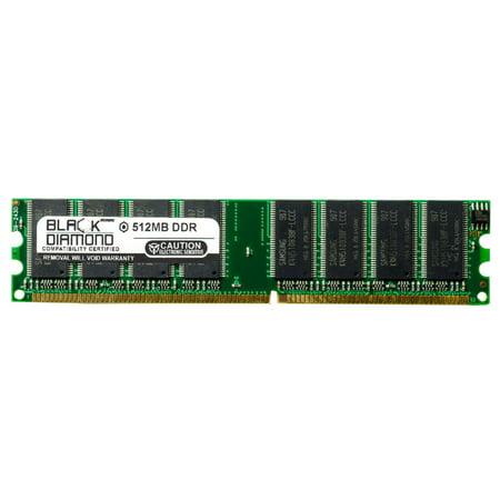 512MB Memory RAM for Dell Dimension 8110, 1100 Advanced, 1100 Basic, 1100 TV Extra, 3000 Media Center 184pin PC3200 400MHz DDR DIMM Black Diamond Memory Module Upgrade