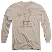 ET the Extra Terrestrial Pointing Mens Long Sleeve Shirt