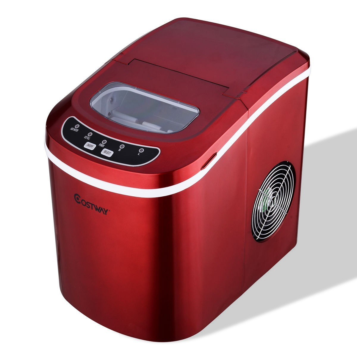 Mini Portable Compact Electric Ice Maker Machine - Red