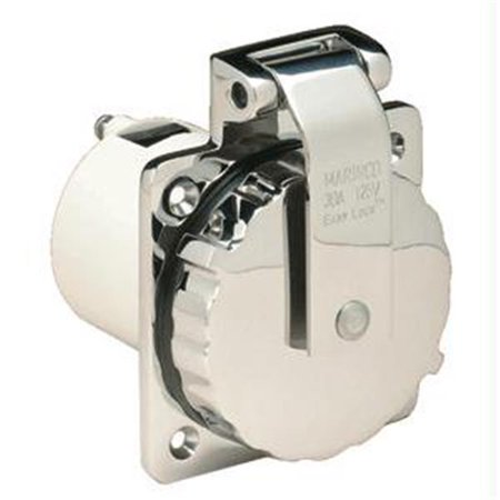 30A Power Inlet - Stainless Steel -