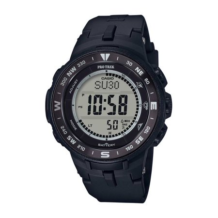 Pro Trek Solar-Powered Mid-Size Triple Sensor, Black - PRG330-1 (solar powered watches for women)