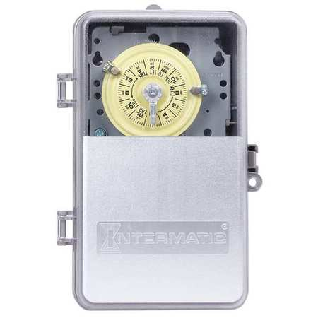 Intermatic Electromechanical Timer, 24-Hour, T104PCD82