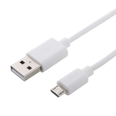 Onn Micro-USB to USB Type-A Cable, 10 Feet, White