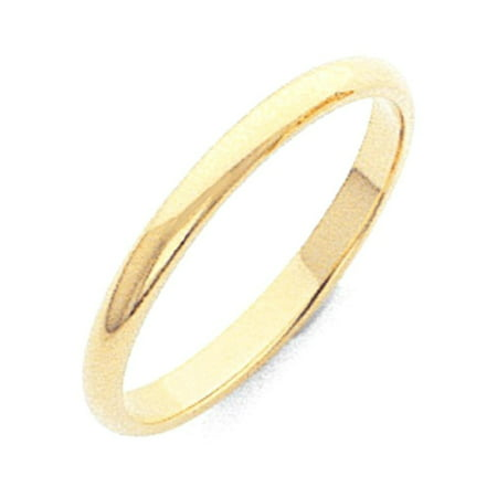 10k Yellow Gold 2mm Half Round Wedding Ring Band Size 5 Classic Gifts For Women For Her (Gold Rings For Women For Wedding)