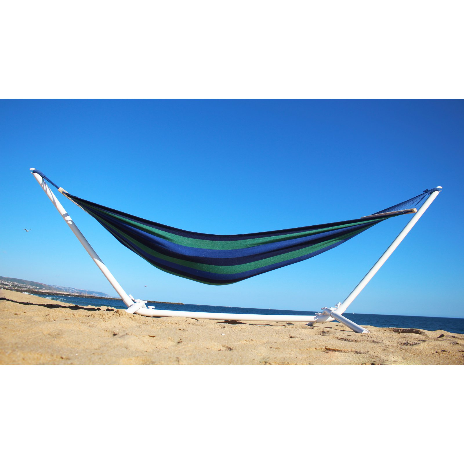 Paradise Cove Designs Miami 10 ft. Cotton Outdoor Hammock with Stand by