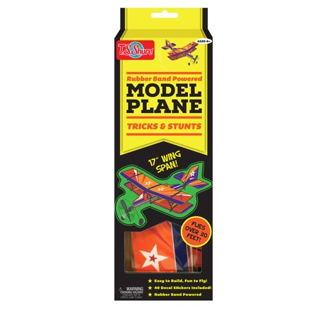 T.S. Shure Rubber Band Powered Tricks and Stunts Model Plane Kit Rubber Powered Flying Model