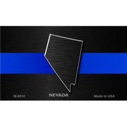 Smart Blonde M-8910 3. 5 x 2 inch Nevada Thin Blue Line Novelty Metal Magnet