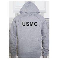 Rapid Dominance RS4-USM-BLK-03 USMC Graphic Pullover Sweatshirt, Black - Large