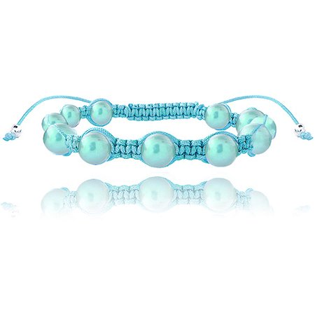 7.5-8mm Light Blue Freshwater Cultured Pearls Adjustable Bracelet - Inspired Pearl Bracelet