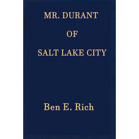Mr. Durant of Salt Lake City - eBook](Costume Shop Salt Lake City)