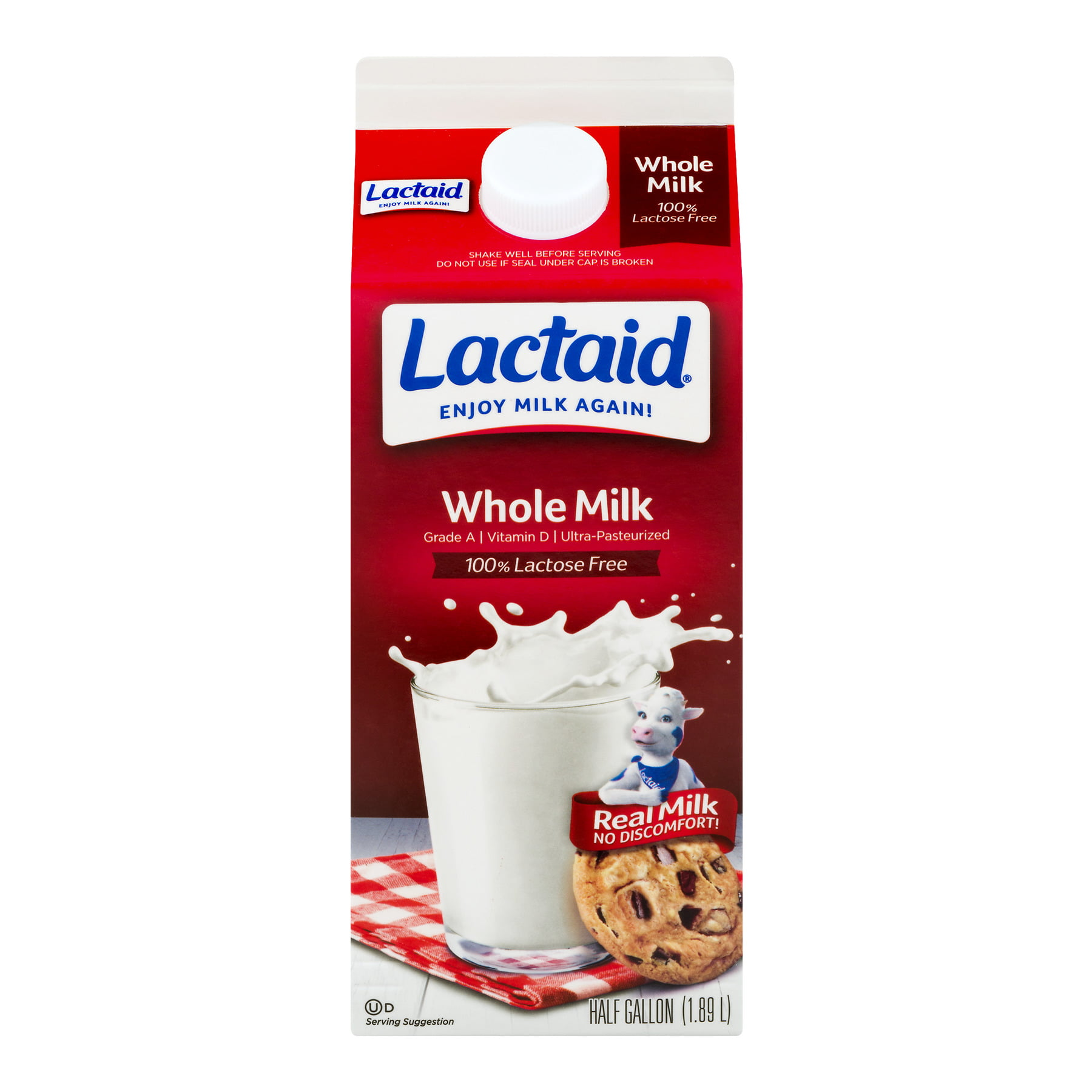 Lactaid 100 Lactose Free Whole Milk 5 Gal L Carton Walmart Com