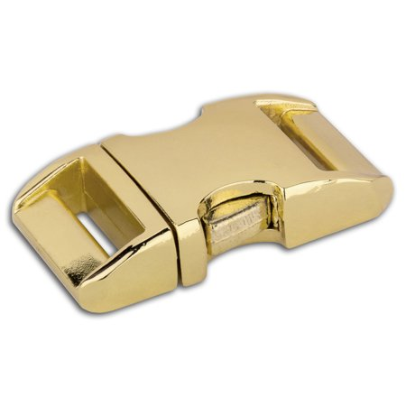 Embossed Brass Buckle - 5/8 Inch Brass Plated Aluminum Side Release Buckles