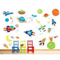 Super Space Explorer Wall Decal Sticker - 10x18