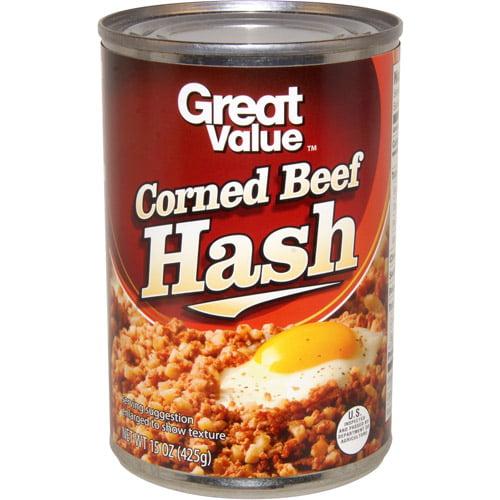 Great Value Corned Beef Hash, 15 oz