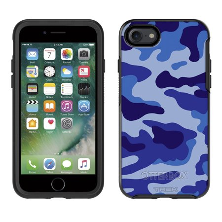 SKIN DECAL FOR Otterbox Symmetry Apple iPhone 8 Case - Camouflage Blue DECAL, NOT A CASE