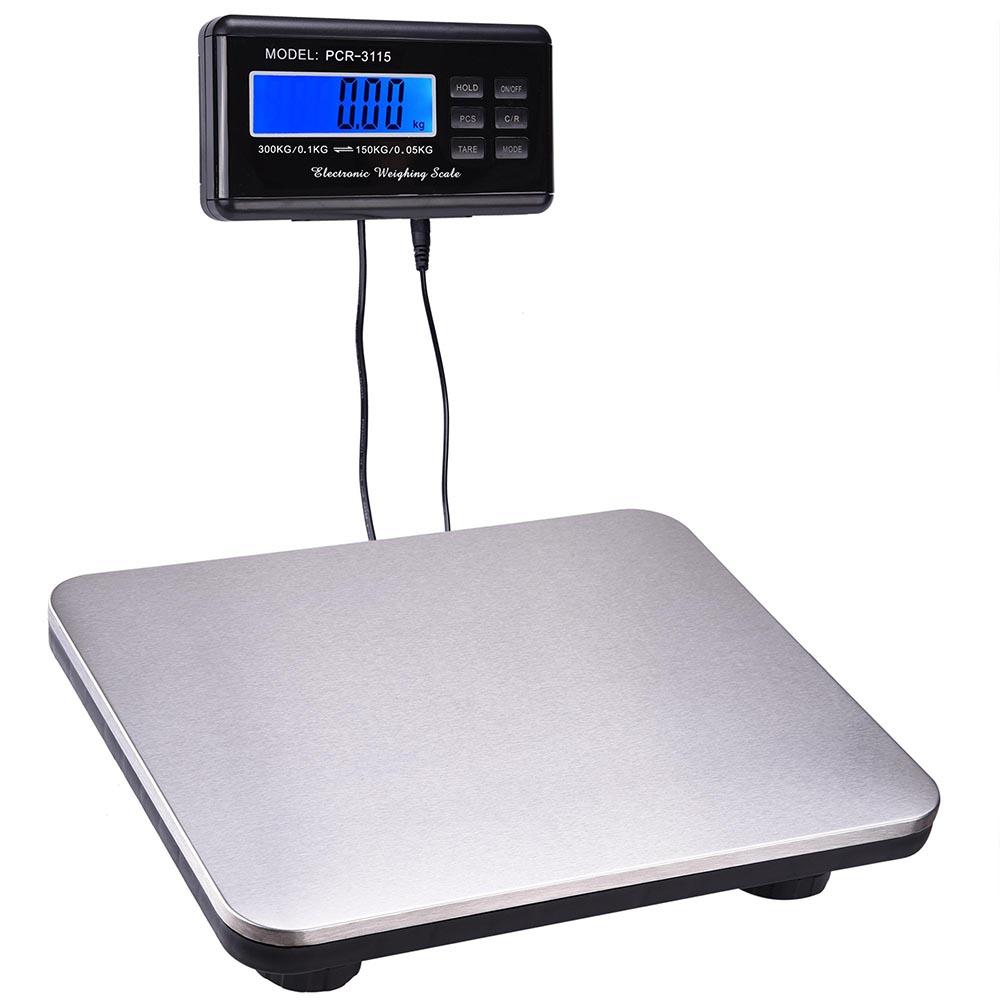 660lbs LCD Ac Digital Floor Bench Postal Scale Platform Shipping/pet ...