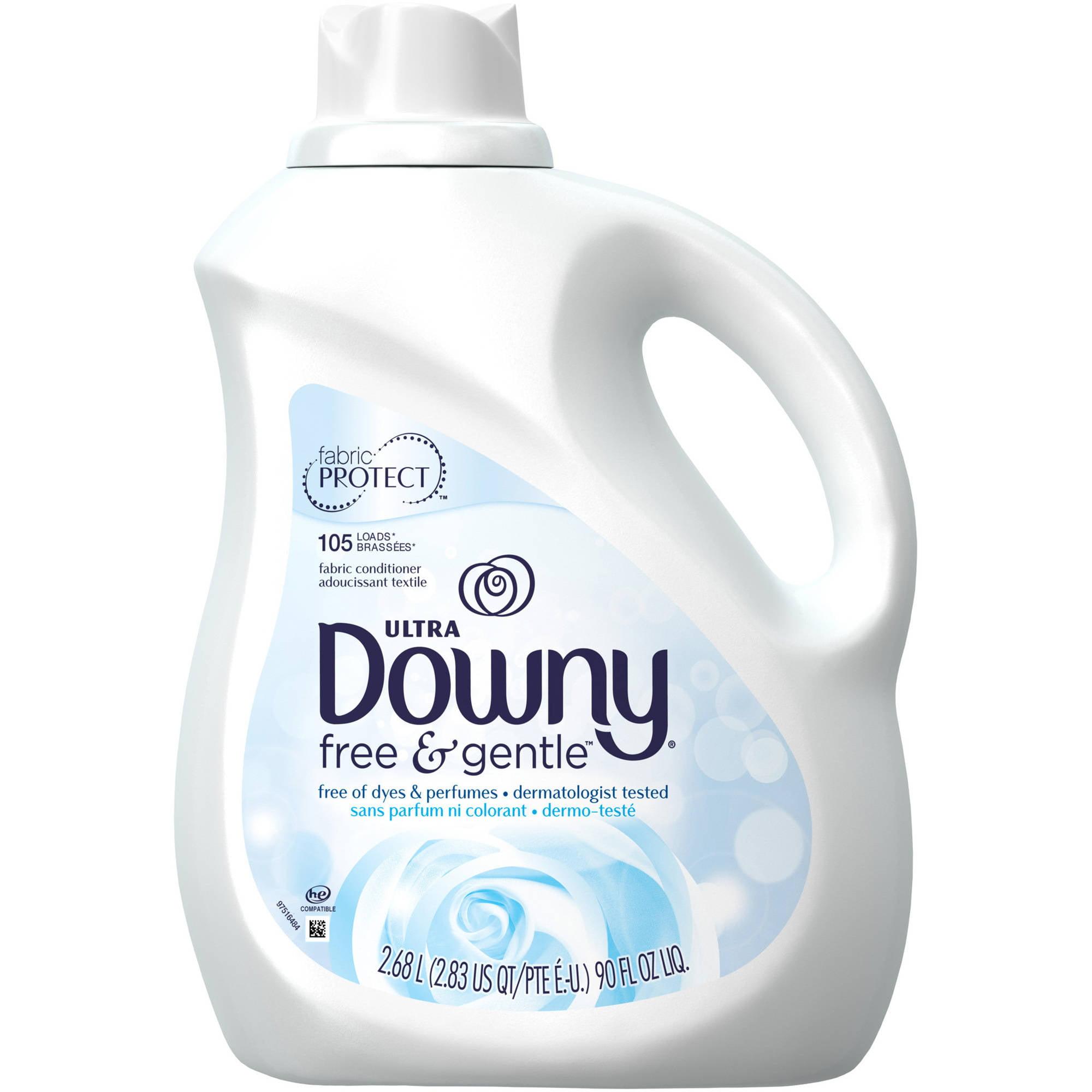 Ultra Downy Free & Gentle Liquid Fabric Conditioner, 90 fl oz