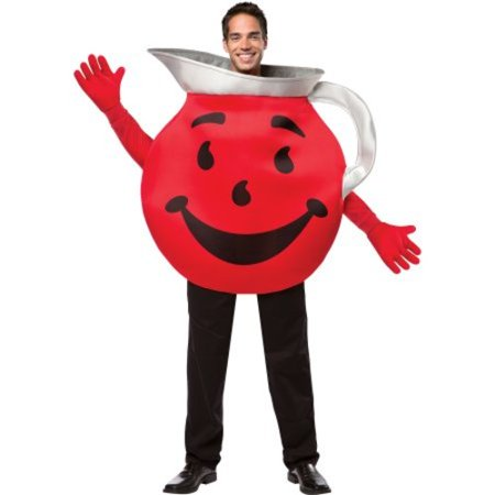 Kool Aid Guy Adult Halloween Costume - Fat Guy Costumes