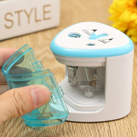 Pencil Sharpener Electric Automatic Dual Holes Battery Desktop School Office - image 10 of 10
