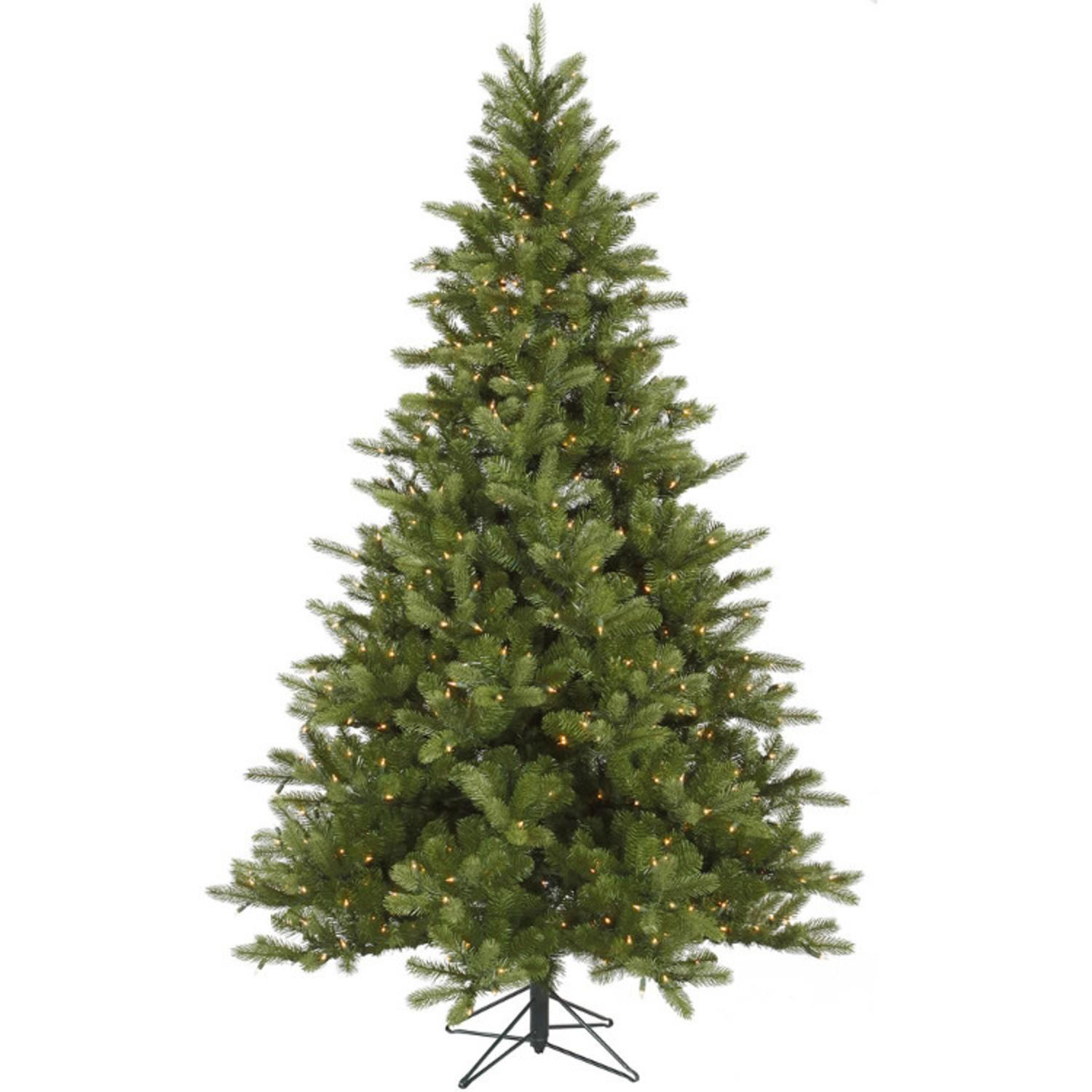 6.5' Pre-Lit King Spruce Artificial Christmas Tree - Dura-Lit Clear Lights