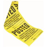 Tyvek Posted Roll Sign