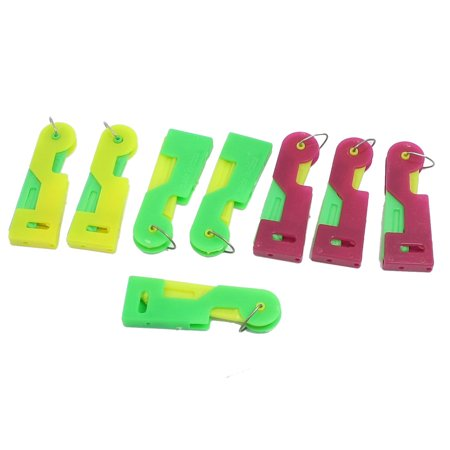 Unique Bargains 8 Pcs Plastic Colorful Inserter Sewing Needle Threader