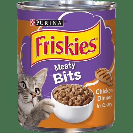 Friskies Gravy Wet Cat Food, Meaty Bits Chicken Dinner - (12) 13.5 oz.