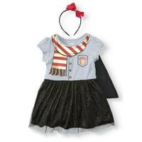 Harry Potter Roleplay Tutu Cape Dress & Headband (Toddler Girls)