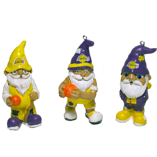 Forever Collectables NBA Gnome Ornament Set, Los Angeles Lakers, 3pk