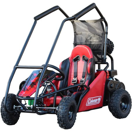 coleman powersports off road 100cc go kart black and red. Black Bedroom Furniture Sets. Home Design Ideas