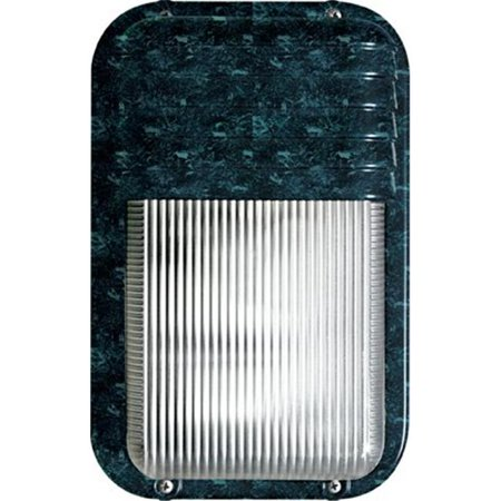 Dabmar Lighting W2965-VG 9.75 x 6.25 x 3.92 in. 120 V 60 watts Incandenscent Type Powder Coated Cast Aluminum Surface Mounted Wall Fixture Light, Verde