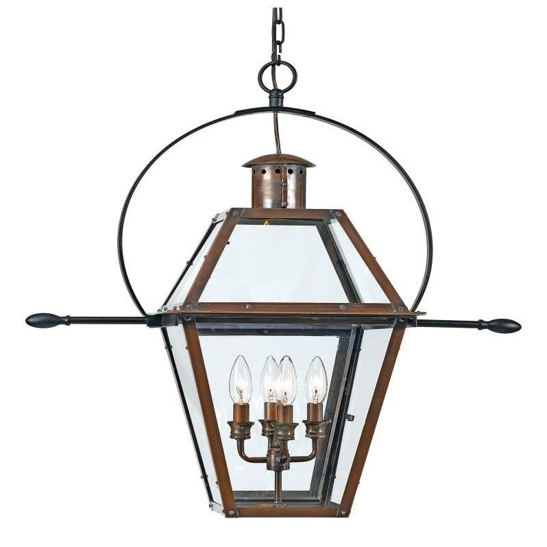 Atlin Designs Extra Large Hanging Lantern in Aged Copper