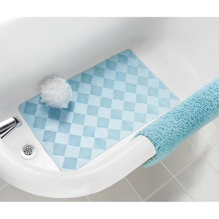 Mainstays Rubber Bath Mat, Mineral Blue