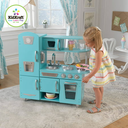 Kids kitchen cooking set wooden playset pretend vintage for Kitchen set 008 82