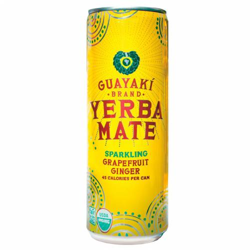 Guayaki Sprakling Yerba Mate Grapefruit Ginger Organic, 12 Fluid Ounce (Pack of 12)