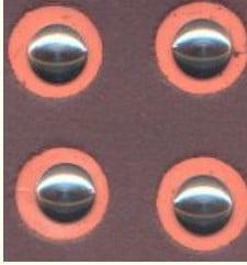 1/24-1/25 Baby Moon Hub Caps 3/8 dia. (Solid Aluminum) (4)