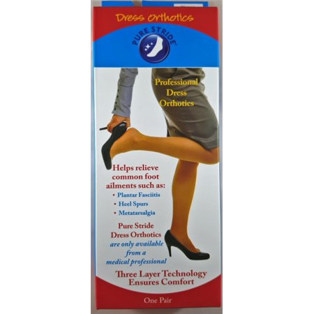 Pure Stride Professional Dress Orthotic Arch Supports Insoles (6.5-7.5) Lynco Dress Orthotics