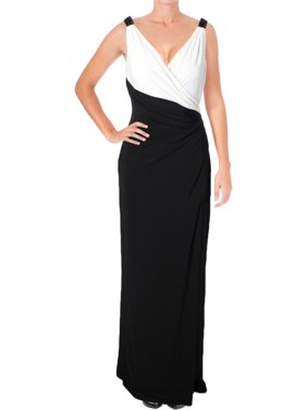 7aa482f234a67 Product Image Lauren Ralph Lauren Womens Two Tone Surplice Evening Dress