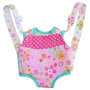 baby whitney patchwork pink doll front carrier with straps