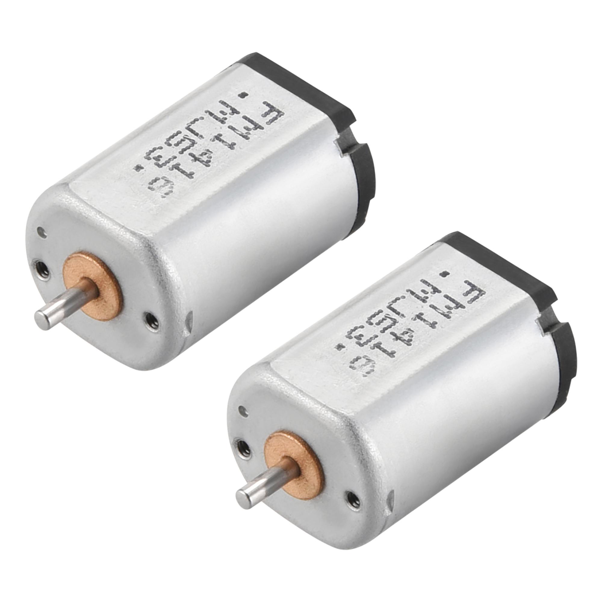 2Pcs DC Motor 1.5/4.5V 4500/14000RPM 0.05A Electric Motor Round Shaft