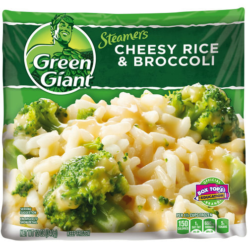 Green Giant Cheesy Rice & Broccoli 100% Natural Valley Fresh Steamers w/Sauce, 12 Oz