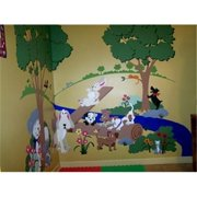 Elephants on the Wall 5-1260 Puppy Playground- Small - Paint It Yourself