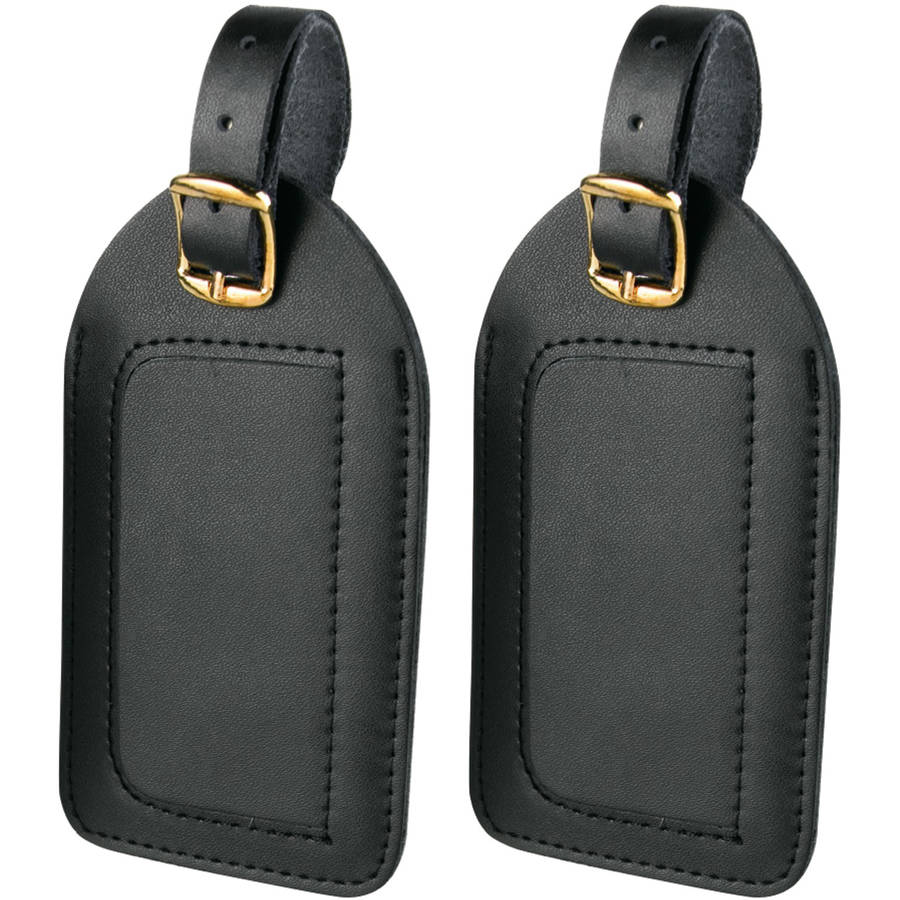 Travel Smart By Conair P2010 Leather Luggage Tags, 2pk