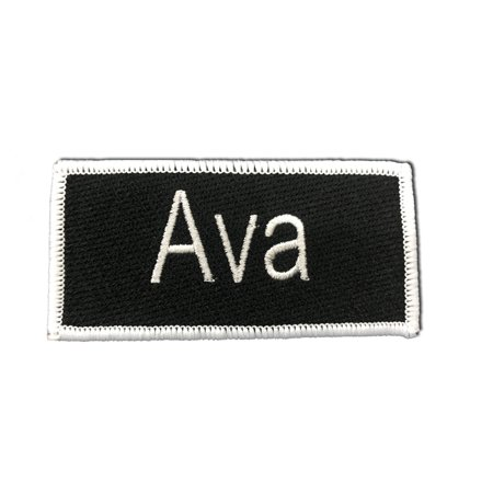 Free Name Embroidery (Ava Name Tag 3 3/4