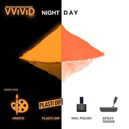 Pigment Powder Glow In The Dark | Long Lasting Craft Pigment Powder 1oz Pack | Prisma65 Orange Glow In The Dark by