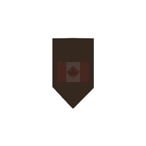 Image of Canadian Flag Rhinestone Bandana Cocoa Small
