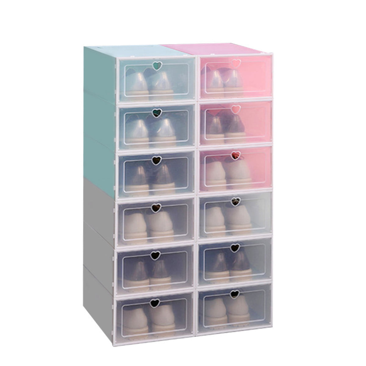 1/2/4/6PCS Foldable Storage Shoes Clear